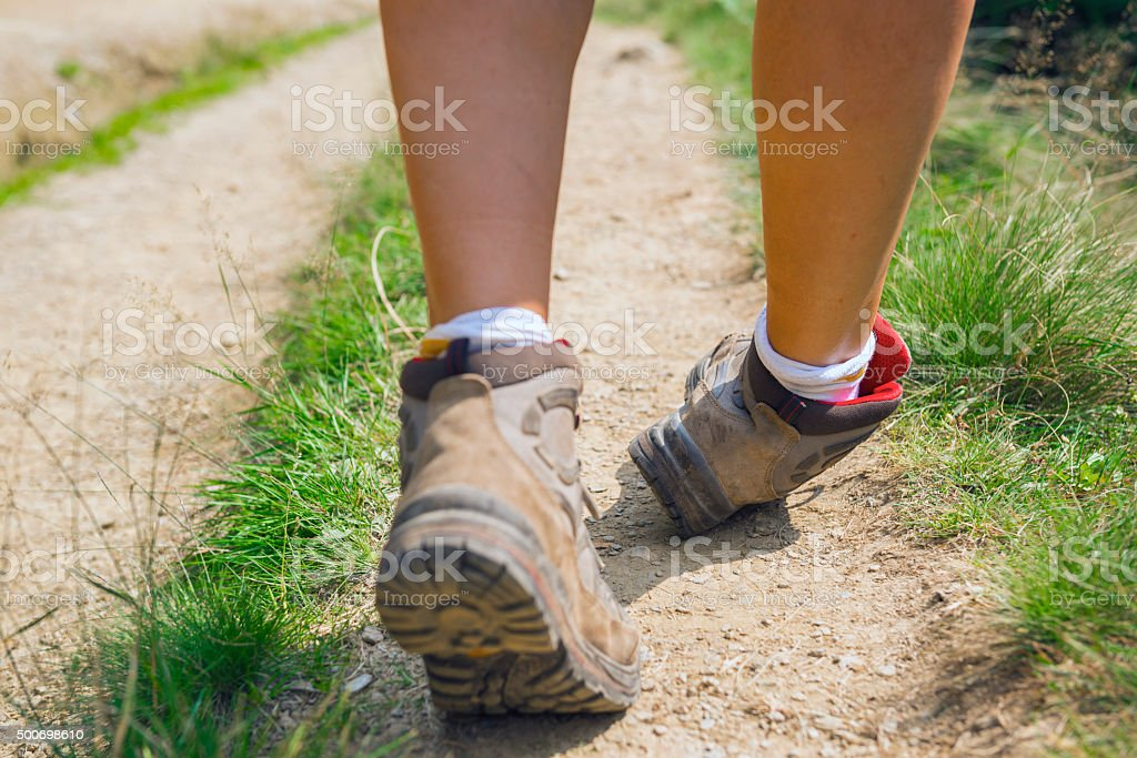 Missteps about to produce ankle injury stock photo