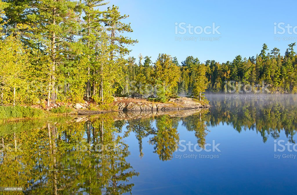 Mist and Reflections in Early morning stock photo