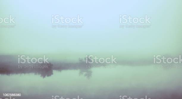 Photo of Mist on a lake infrared