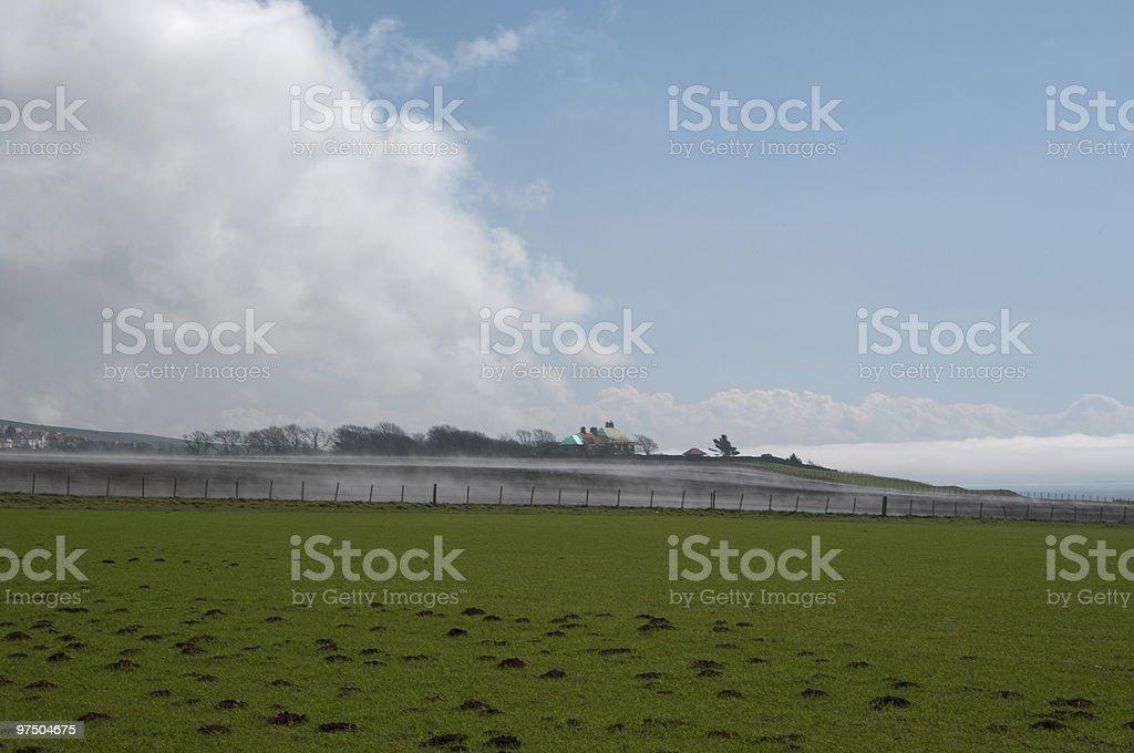 Mist on field royalty-free stock photo