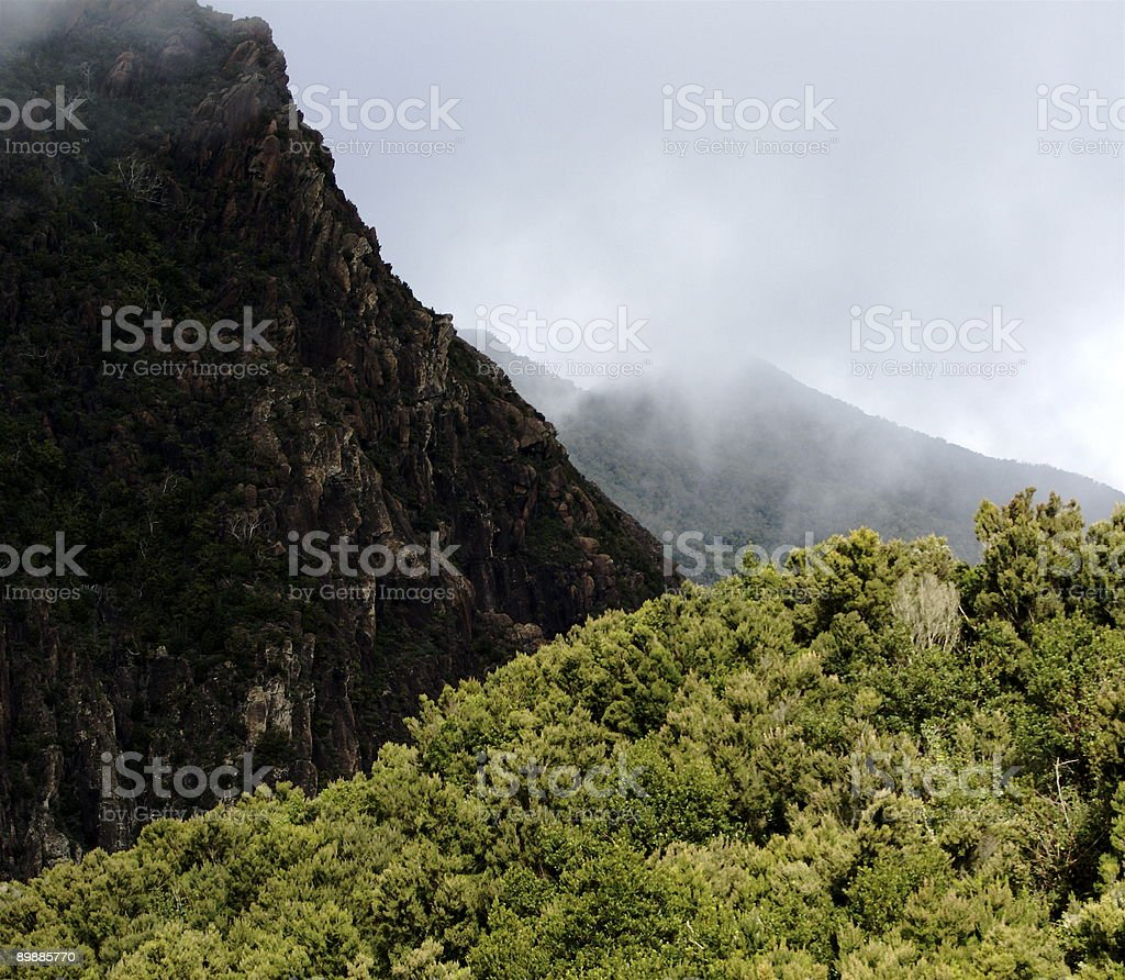 Mist on La Gomera royalty-free stock photo