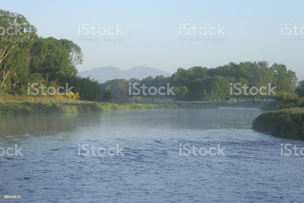 Mist on the river royalty-free stock photo