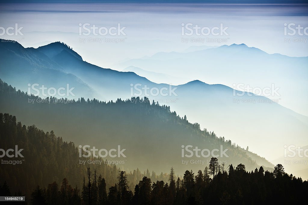 Mist on the Sierra Nevada Mountains bildbanksfoto