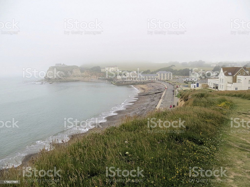 Mist over Freshwater Bay stock photo