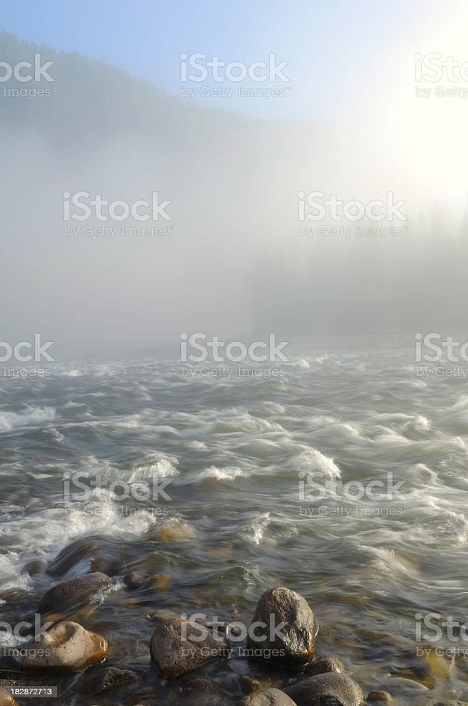 Mist over the river royalty-free stock photo