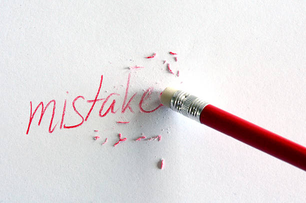 mistake correction stock photo