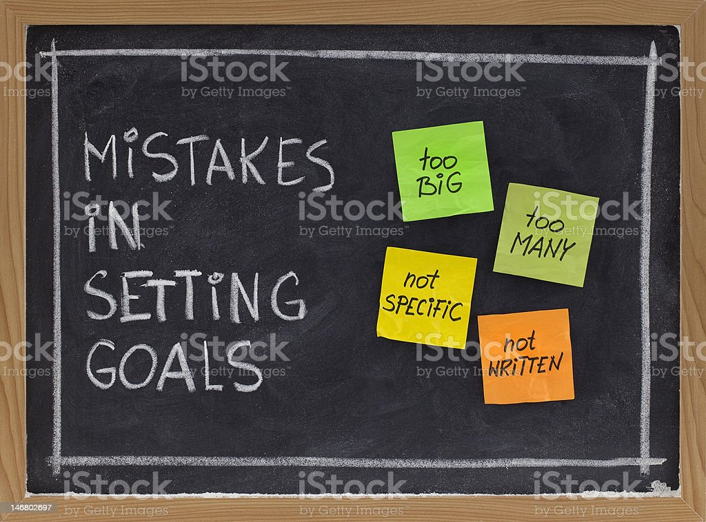 mistakes in setting goals royalty-free stock photo