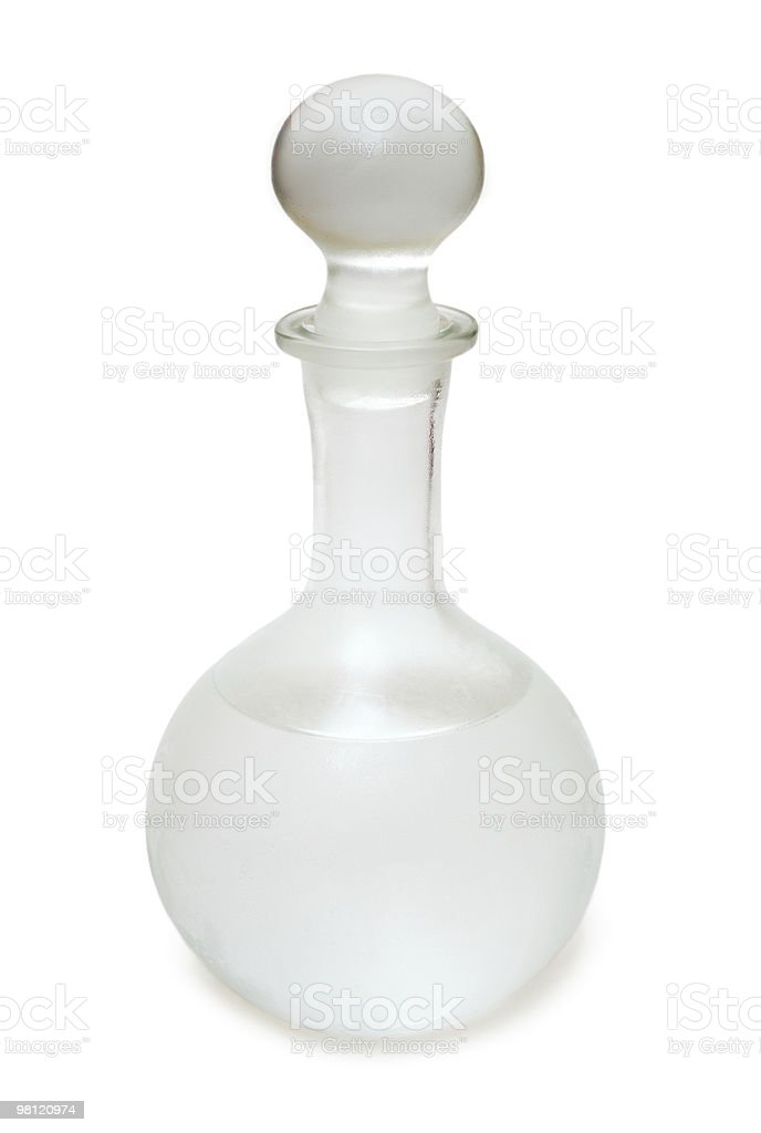 misted decanter with russian vodka royalty-free stock photo