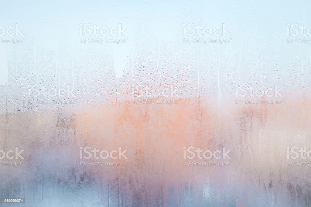 misted glass as the background stock photo