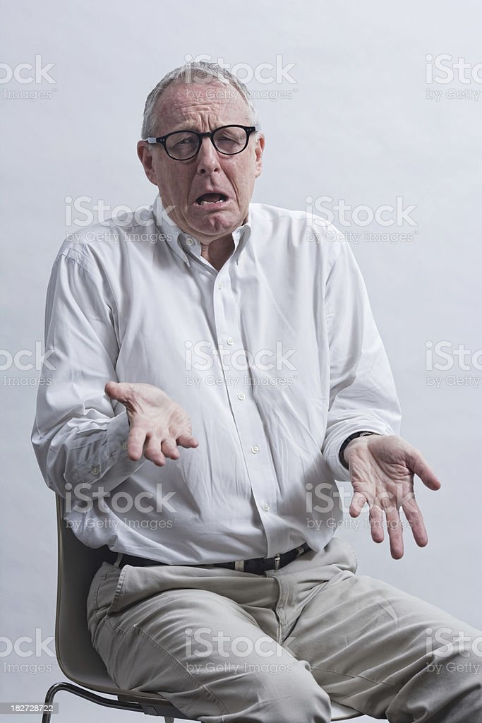 Mister Distraught royalty-free stock photo