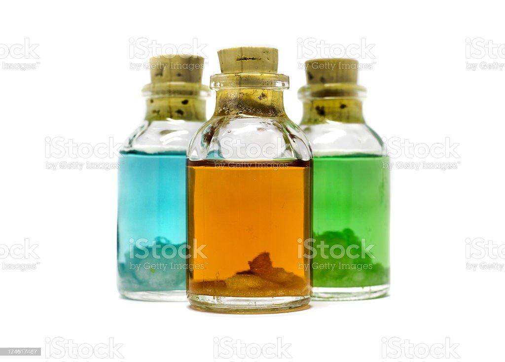 Misterious little bottles royalty-free stock photo