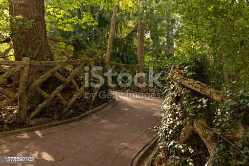 a misterious hidden corner in The Florida park in the center of Vitoria