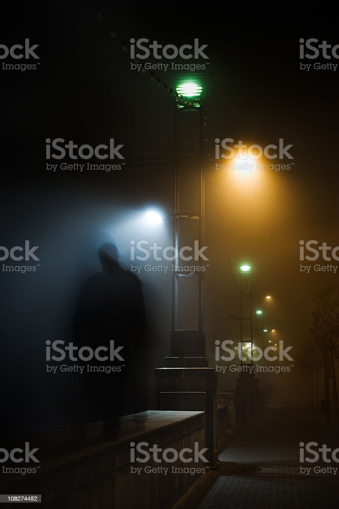 Mistery in the night stock photo