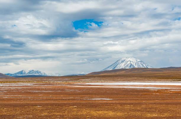 Misti Volcano in Arequipa, Peru stock photo