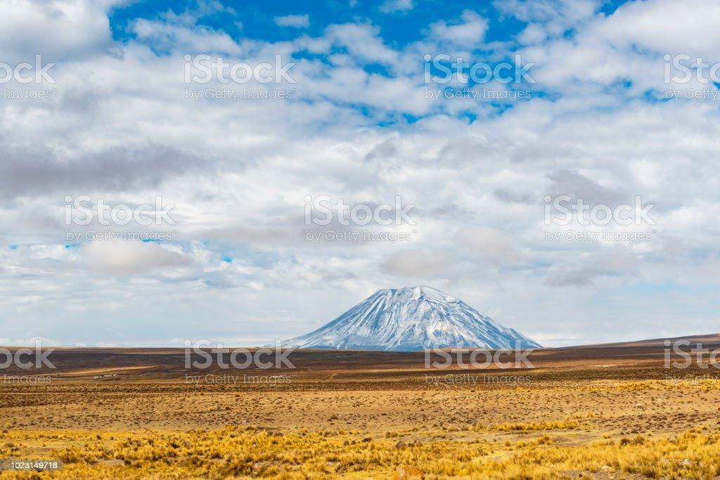 Misti Volcano, Peru stock photo