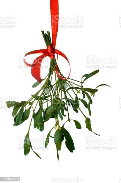Mistletoe hanging with a red ribbon isolated on white picture id176833124?b=1&k=6&m=176833124&s=612x612&h=vi4e0x4srjwfbszteu3rfgsqgggaqra85eibhinkwiy=