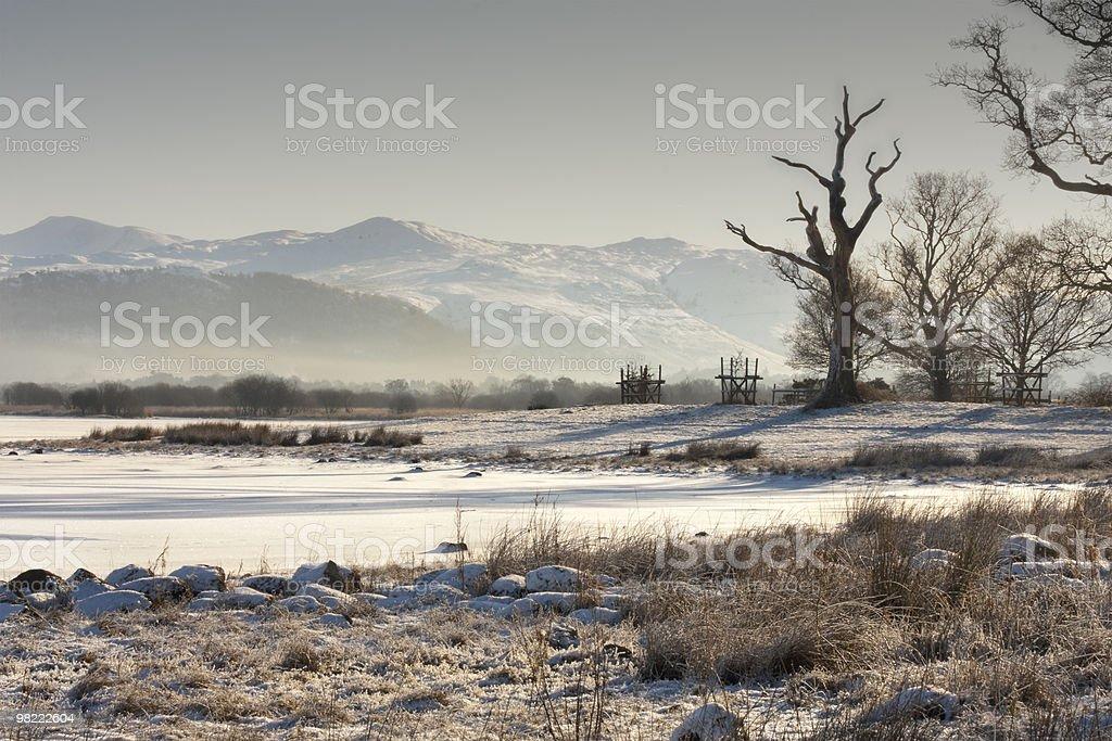 Misty Bassenthwaite Lake Sunrise royalty-free stock photo