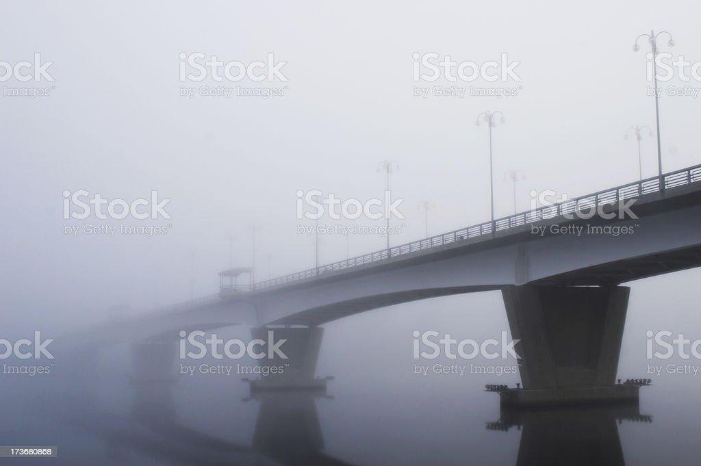 Misty bridge royalty-free stock photo