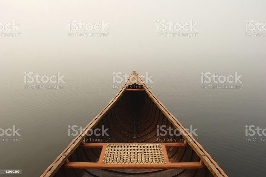 Misty Canoe royalty-free stock photo