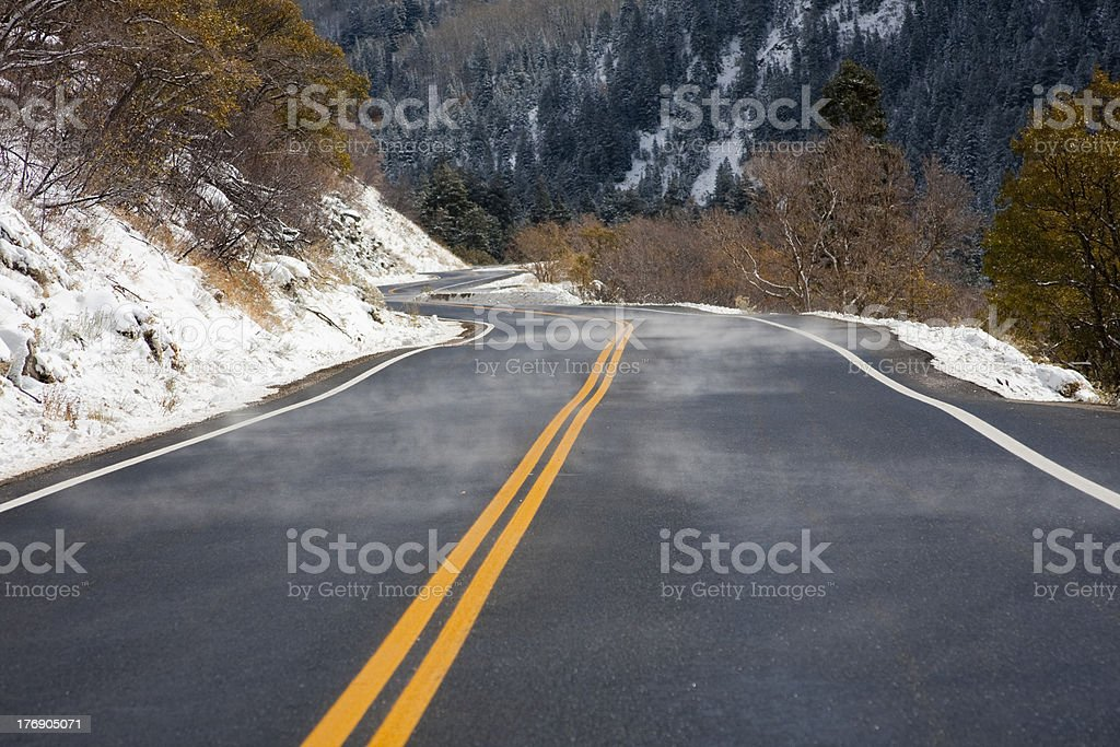 Misty Canyon Road royalty-free stock photo