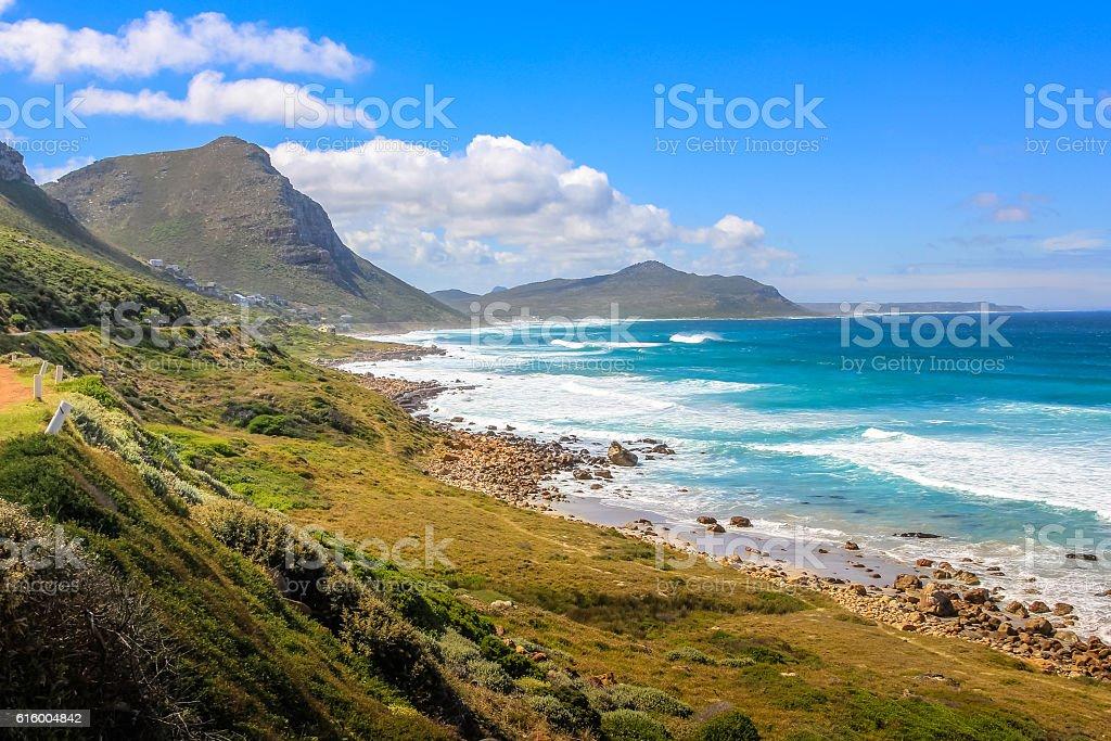 Misty Cliffs Atlantic Seaboard stock photo