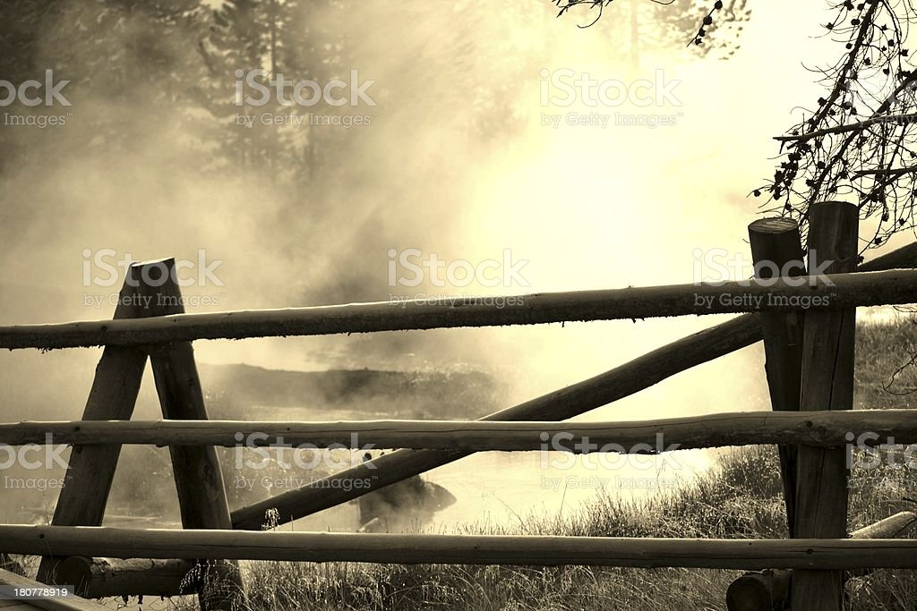 Misty creek. royalty-free stock photo
