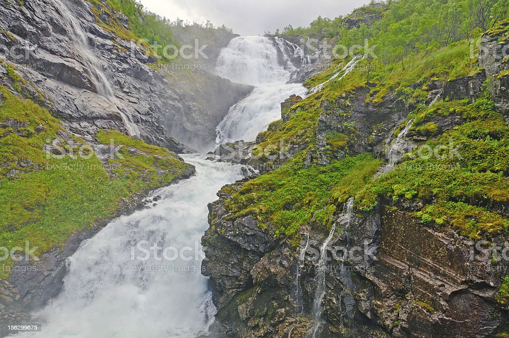 Misty falls in the Mountains royalty-free stock photo