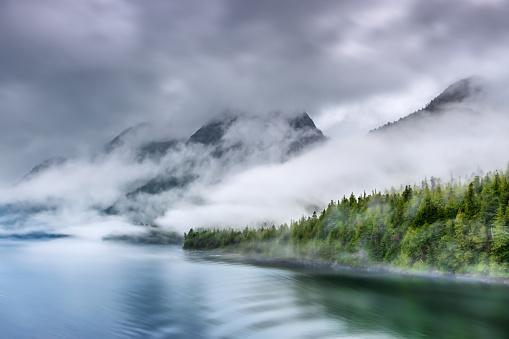Misty Fjord Shoreline, Alaska