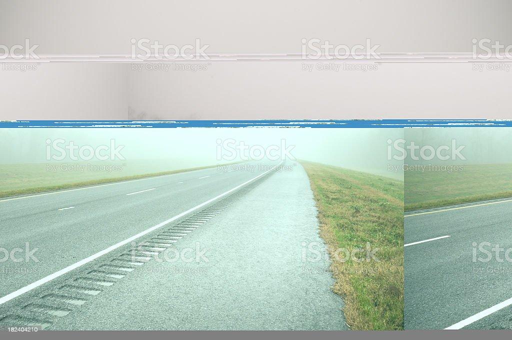 Misty Foggy Freeway royalty-free stock photo