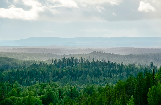 Mountain landscape in Lapland Finland