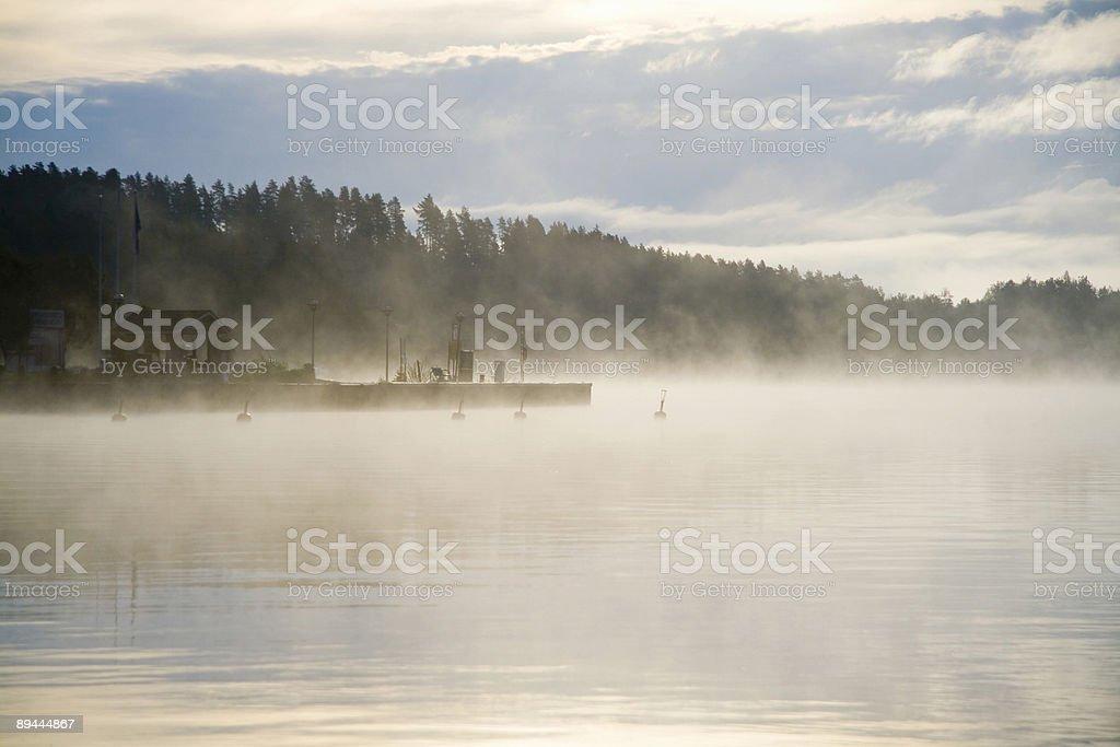 Misty le port photo libre de droits