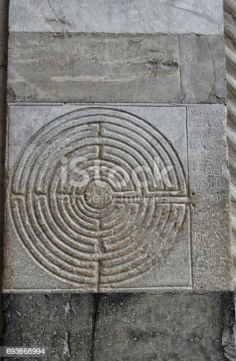 857874170 istock photo Misty labyrinth engraved on marble 693668994