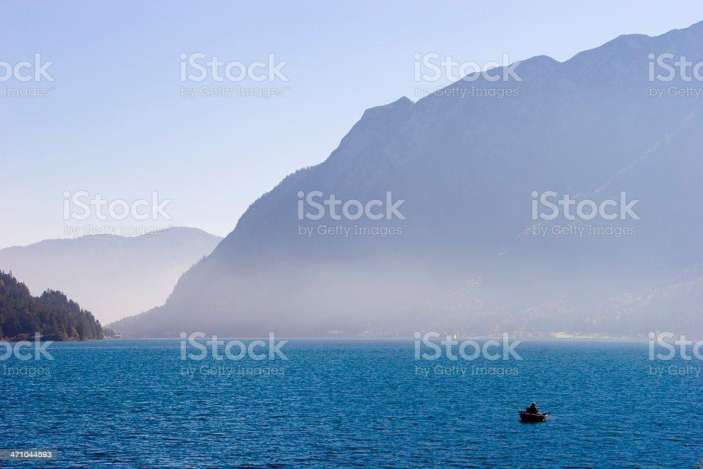 misty lake royalty-free stock photo
