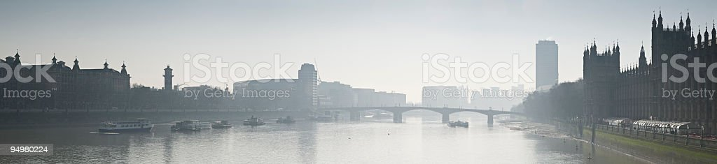 Misty London morning royalty-free stock photo