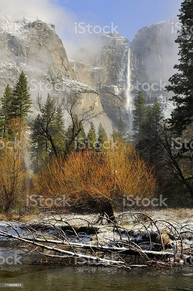 Misty morning landscape in Yosemity National Park royalty-free stock photo