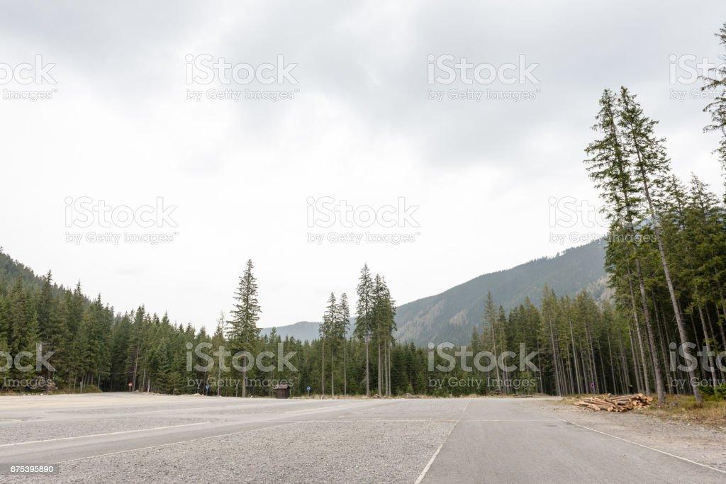 Vue de montagne brumeuse matinée photo libre de droits