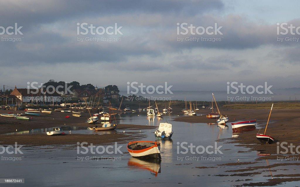 Misty morning on Norfolk Estuary royalty-free stock photo