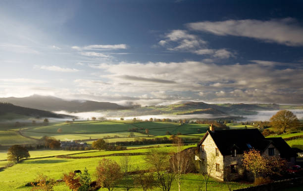 Misty morning  brecon beacons stock pictures, royalty-free photos & images