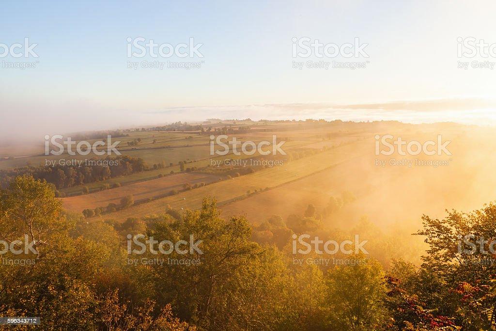 Misty morning royalty-free stock photo