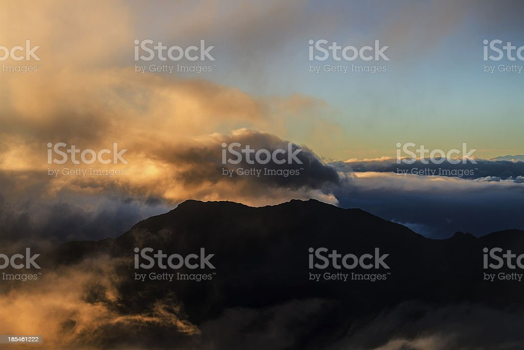 Misty mountain royalty-free stock photo