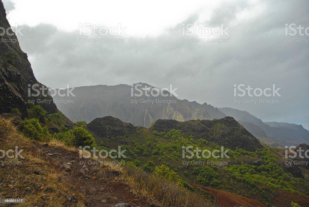 Misty Mountain stock photo