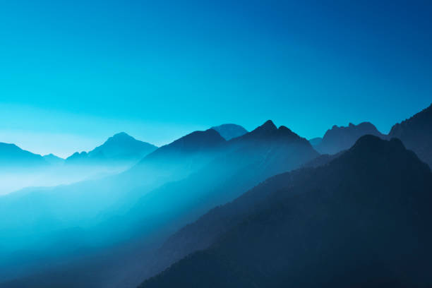 Misty mountains during daytime in Antalya, Turkey