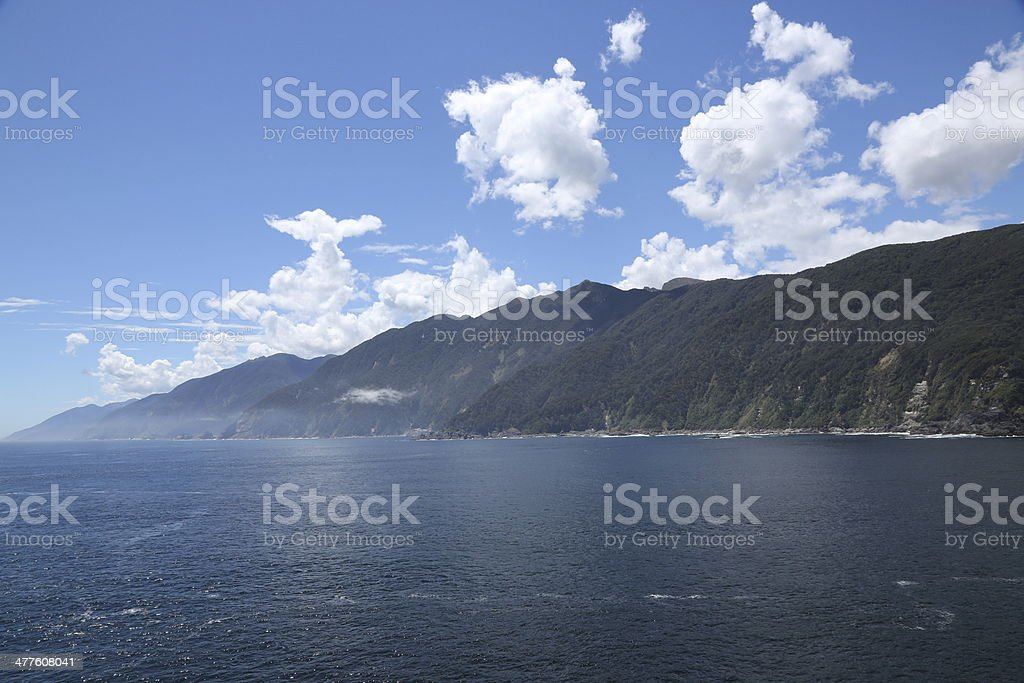 Misty Mountains, New Zealand stock photo