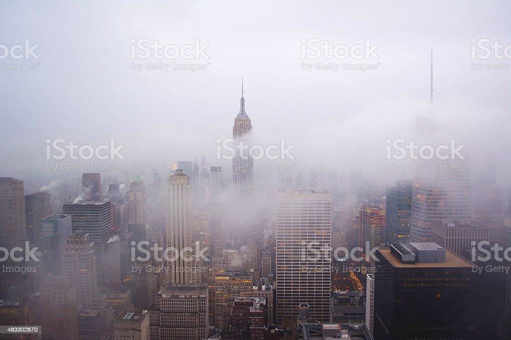 Misty NYC stock photo