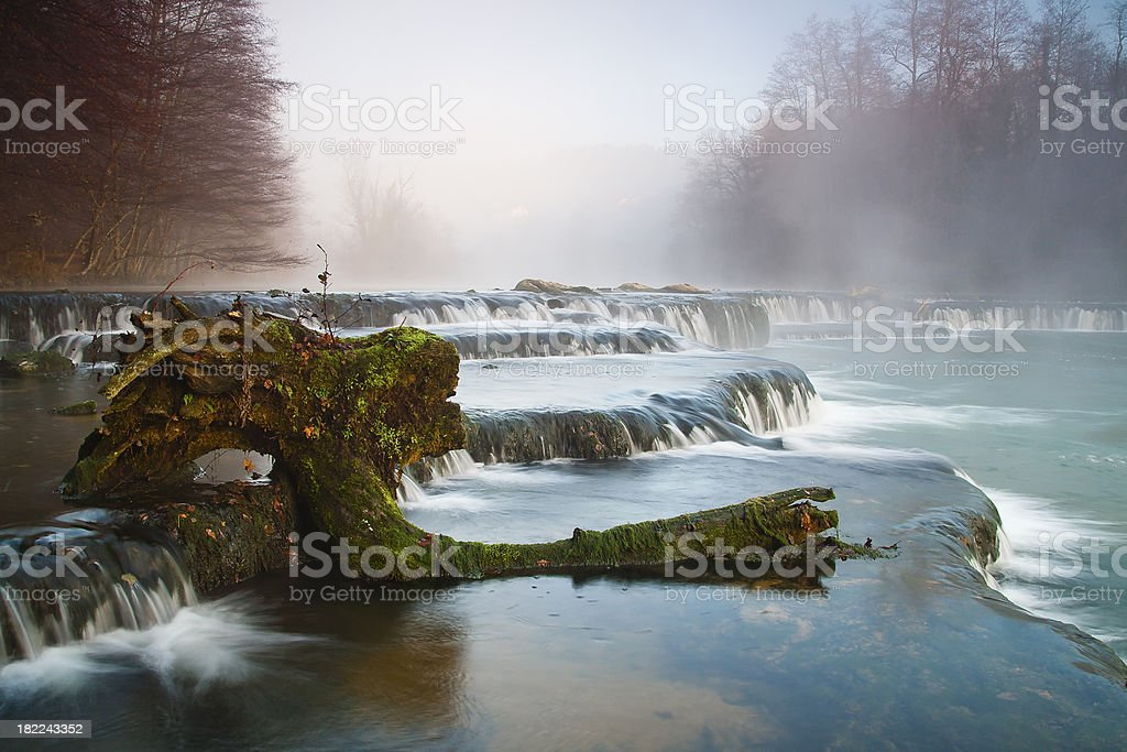 Misty river royalty-free stock photo