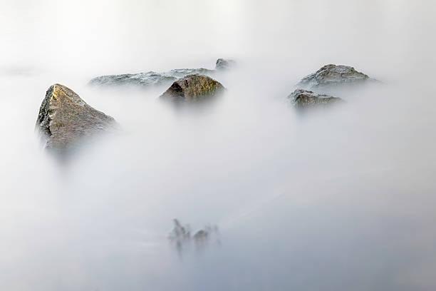 Misty River stock photo