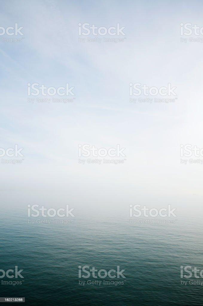 Misty Sea Horizon Background stock photo