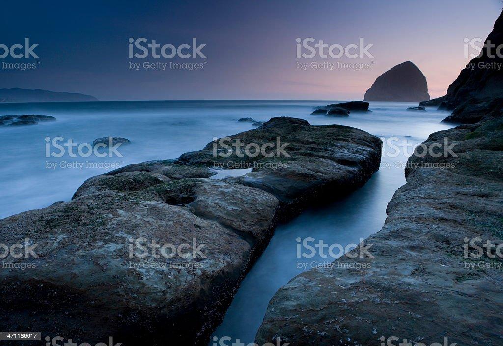 Misty Seascape royalty-free stock photo