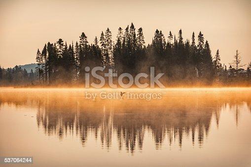 istock Misty Sunrise at Lake in Algonquin Provincial Park Ontario Canada 537064244