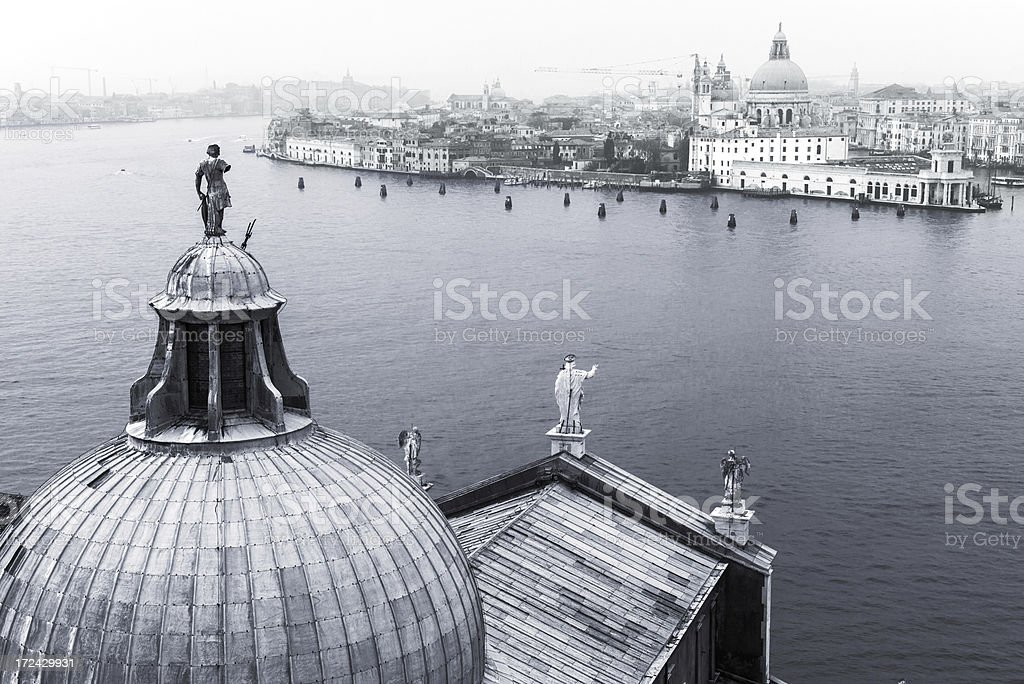 Misty view from  San Giorgio Maggiore, Venice royalty-free stock photo